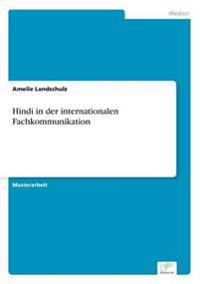 Hindi in Der Internationalen Fachkommunikation