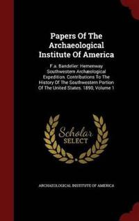 Papers of the Archaeological Institute of America