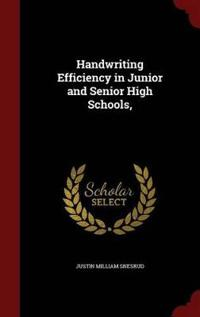Handwriting Efficiency in Junior and Senior High Schools