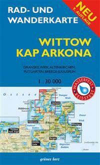 Rad- und Wanderkarte Wittow, Kap Arkona