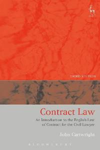 Contract law - an introduction to the english law of contract for the civil