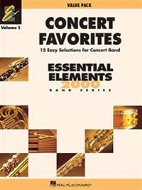 Concert Favorites Vol. 1 - Value Pak: Value Pack (37 Part Books with Conductor Score and CD)