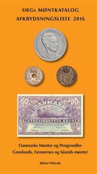 Siegs Møntkatalog og Afkrydsningsliste - med pengesedler