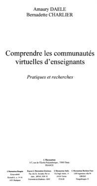Comprendre les communautes virtuelles d'enseignements