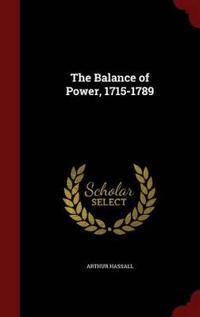 The Balance of Power, 1715-1789