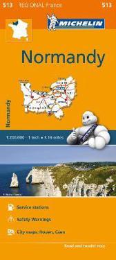 Normandy Michelin 513 delkarta Frankrike. 1:200000