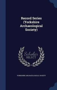 Record Series (Yorkshire Archaeological Society)