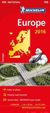 Europa 2016 Michelin 705 karta : 1:3m
