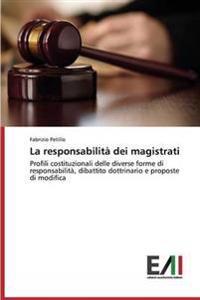 La Responsabilita Dei Magistrati