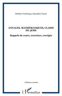 Annales mathematiques classede 3e