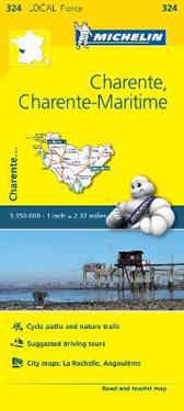 Charente, Charente-Maritime - Michelin Local Map 324