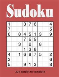Sudoku: Over 200 Puzzles to Complete, Great Gift for Adults and Children, Ideal Birthday and Christmas Present