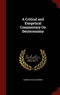 A Critical and Exegetical Commentary on Deuteronomy