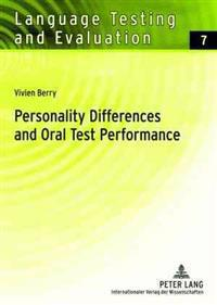 Personality Differences and Oral Test Performance