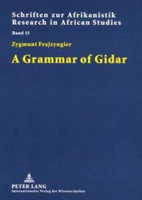 A Grammar of Gidar