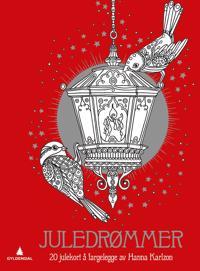 Juledrømmer. 20 julekort å fargelegge av Hanna Karlzon