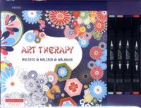 Art therapy målarbok : kimono + 4 färgpennor