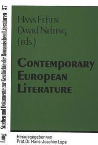 Common Tendencies And Developments In European Languages With An Emphasis On Narrative And Poetry