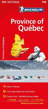 Quebec - Michelin National Map 0760