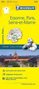 Essonne, Paris, Seine-et-Marne - Michelin Local Map 312