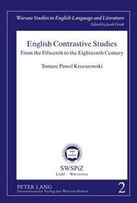 English Contrastive Studies