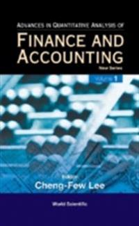 Advances In Quantitative Analysis Of Finance And Accounting - New Series