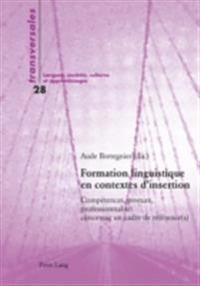 Formation linguistique en contextes d'insertion