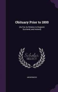 Obituary Prior to 1800
