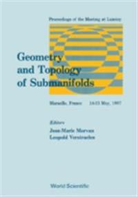 GEOMETRY AND TOPOLOGY OF SUBMANIFOLDS - PROCEEDINGS OF THE MEETING AT LUMINY MARSEILLE