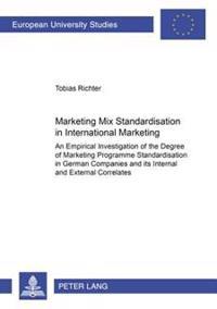 Marketing Mix Standardisation In International Marketing