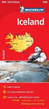 Iceland - Michelin National Map 0750