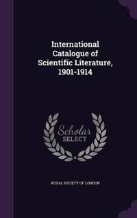 International Catalogue of Scientific Literature, 1901-1914