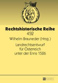 Landrechtsentwurf fur osterreich unter der Enns 1526