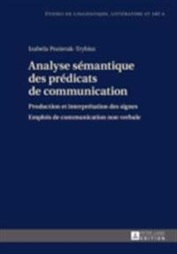 Analyse semantique des predicats de communication