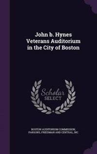 John B. Hynes Veterans Auditorium in the City of Boston