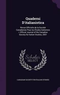 Quaderni D'Italianistica