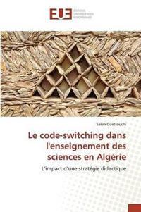 Le Code-Switching Dans Lenseignement Des Sciences En Alg�rie