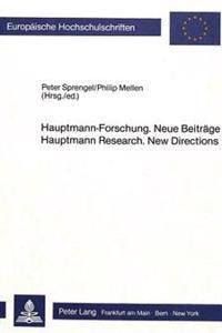 Hauptmann-Forschung-Neue Beitrage
