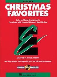 Essential Elements Christmas Favorites: Value Pak (37 Part Books, Conductor Score & CD)