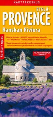 Etelä-Provence ja Ranskan Riviera kartta + opas, 1:300 000/1:15 000
