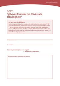 Dysartri - SOFT - Självsvarsformulär om förvärvade talsvårigheter