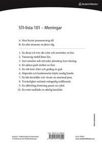 Dysartri - STI-lista 101-150 - Ord- och meningslistor för testning av patientens förståelighet