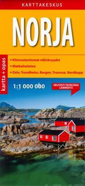 Norja tiekartta + opas, 1:1 000 000