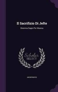 Il Sacrifizio Di Jefte