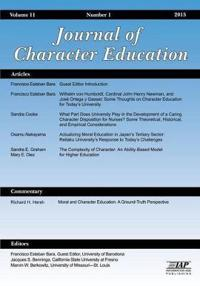 Journal of Research in Character Education, Number 1, 2015