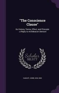 The Conscience Clause