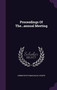 Proceedings of The...Annual Meeting