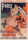 Carnet Ligné Affiche Hippodrome Porte Maillot Paris