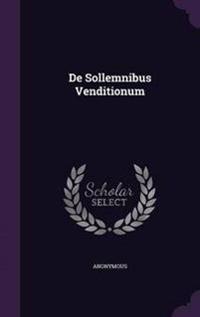 de Sollemnibus Venditionum
