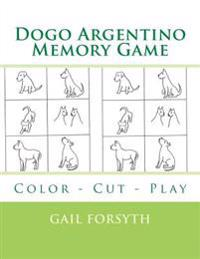 Dogo Argentino Memory Game: Color - Cut - Play